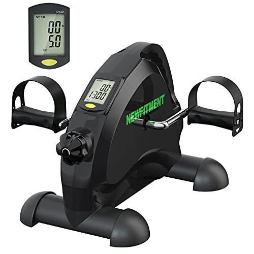 NEWFITMENT Under Desk Bike Pedal Exerciser, Mini Exercise Bike for Seniors Elderly Arm & Leg Exercise Recovery Therapy, Desk Pedal Bike for Home & Office Workout (BLACK)