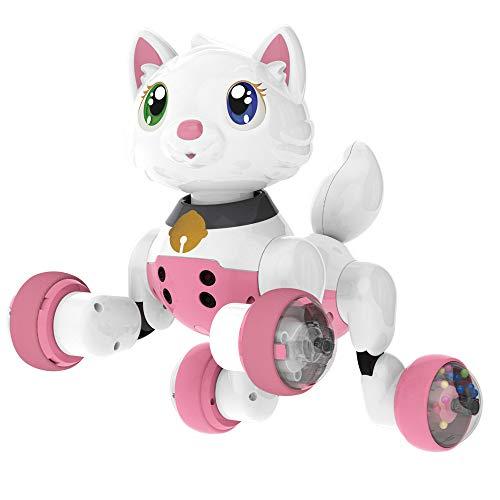 Voz controlada del gato del perro inteligente electrónico interactivo para mascotas Juguetes educativos Con Sing Dacing inteligente mascota robot Paseo robótica Juguete animal Gesto Siguientes,Cat
