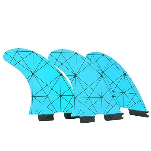 Rosilesi 3 * Aleta de Kayak Fibra de Vidrio Skeg Aleta de Seguimiento Aletas integrales FCS2 G5 para Kayaks Canoas Bote de remos (Azul)