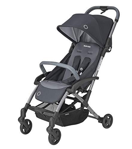 Maxi-Cosi Laika 2 Baby Kinderwagen, Zeer Compacte En Lichtgewicht Kinderwagen voor vanaf de Geboorte, Eenvoudig Opvouwbaar, 0 Maanden 3.5 Jaar, 0-15 kg, Essential Graphite (grijs)