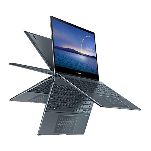 "ASUS ZenBook Flip 13 Ultra Slim 2-in-1 Laptop, 13.3"" FHD Touchscreen Display, Intel Core i5-1035G1 Processor, 8GB RAM, 512GB PCIe SSD, Thunderbolt 3, Windows 10 Home, Pine Grey, UX363JA-DB51T"