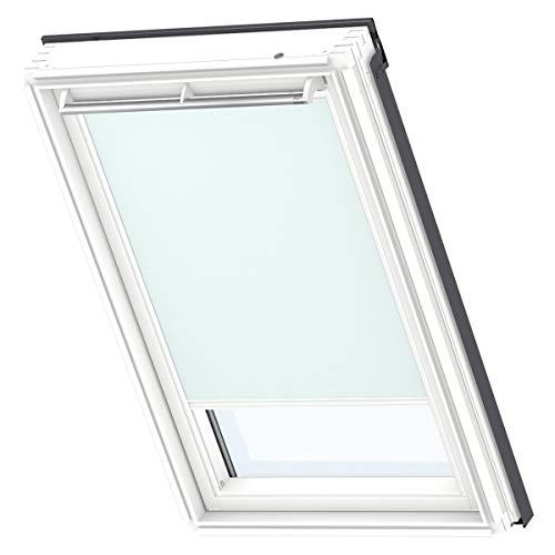 VELUX Original Verdunkelungsrollo für Dachfenster mit weißen Seitenschienen, F06, Uni Pastellblau/DKL F06 4555SWL