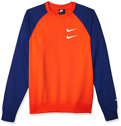 Nike Herren CJ4871-891 Bluse, Team Orange/Deep Royal Blue/White, L