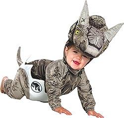 5. Rubie's Infant Jurassic World Hatchling Triceratops Costume