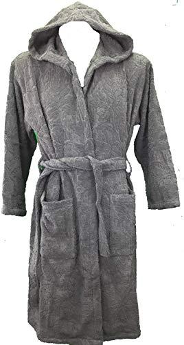 Carrara Bademantel CO Kapuze Unisex aus Reiner Baumwolle Qualität Extra XXL/XXXL grau