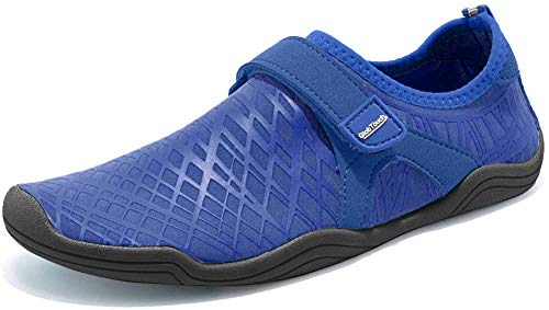 GLOBTOUCH Boy and Girls Athletic Water Shoes Quick-Dry Slip on Aqua Sock for Beach Pool Swim Surf Walking(Toddler/Little Kid/Big Kid)
