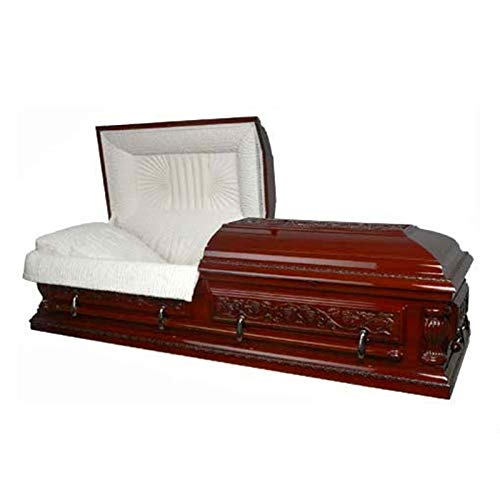 Coffin Elegant Style Coffin Half-Opening Style Coffin 100% Environmentally Friendly Noble Coffin Is The Best Gift for Loved Ones,Brown