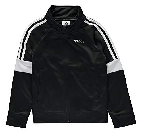 adidas Boys' Iconic Tricot Jacket (Black Event, L (14/16))