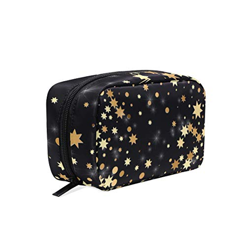 Trousse de maquillage Pochette pour sac cosmétique Golden Star Dots