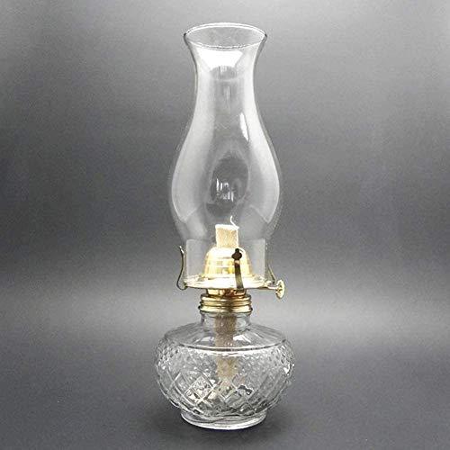 Sooiy El Queroseno Retro clásico de la lámpara Linterna 33cm Claro lámpara de Aceite de Cristal del Dormitorio de la lámpara de Vector Antiguo del Accesorio de iluminación de la Familia Indoor Luces