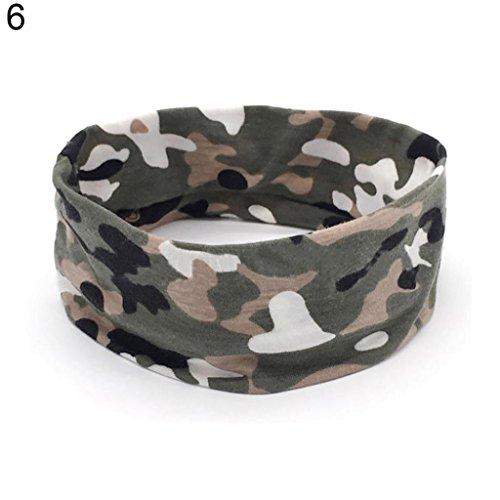 Sanwood – Camouflage stretch Bandeau Unisexe Sport Bandeau Yoga Gym Bandeau Cheveux Headwear Bandeau Bandeau Headwear pour photographies, déguisement, fête, 6#, taille unique