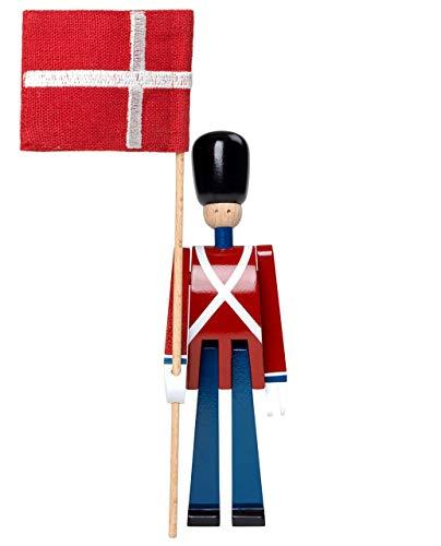 Kay Bojesen Fahnenträger, Rot, Blau, Weiß, 18,5 cm