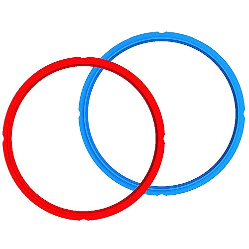 Genuine Instant Pot Sealing Ring 2-Pack - 8 Quart Red/Blue