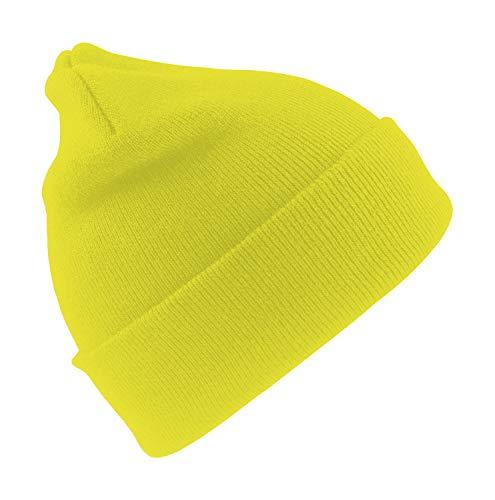Wasserabweisende Wintermütze bis -30°C Kälte getestet wählbar One Size (Neongelb, Einheitsgröße)