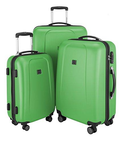 HAUPTSTADTKOFFER - Wedding - 3er Koffer-Set Trolley-Set Rollkoffer Reisekoffer, TSA, Doppelrollen, (S, M & L), Apfelgrün