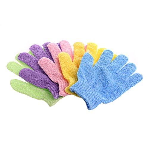 ULTNICE Gants de bain exfoliants pour exfoliant de gommage corporel 4 paires