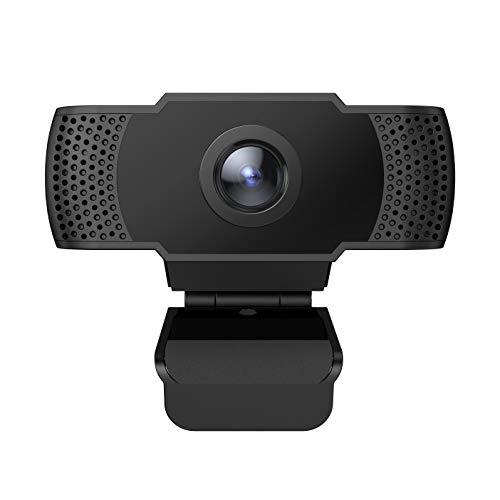 SIXTHGU Webcam 1080P HD Webcam Caméra PC Skype Full HD, Webcam avec Microphone, Appel vidéo et Enregistrement pour Ordinateur de Bureau Portable, caméra USB Plug & Play pour Youtube