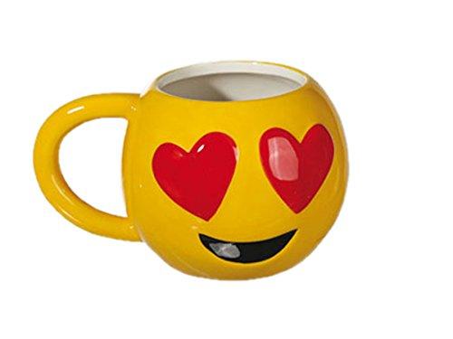 IDEAL Keramik Becher Emotion Smileys Motiv5 11x9 cm Kaffee Tee Tasse Kafeebecher