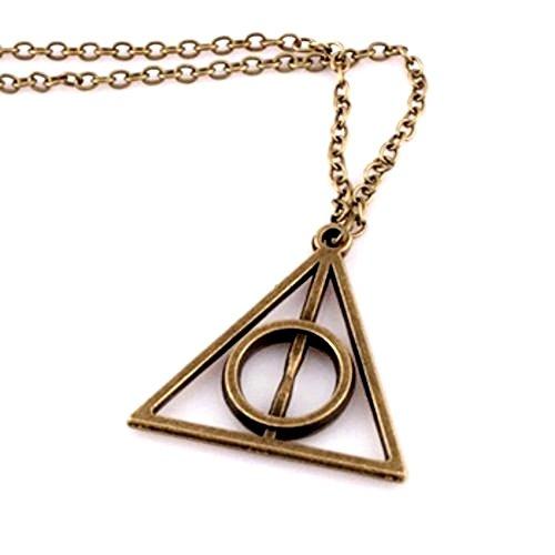 Inception Pro Infinite Collana Colore Colore Bronzo Con Ciondolo Triangolo E Cerchio Piramide Harry & Potter