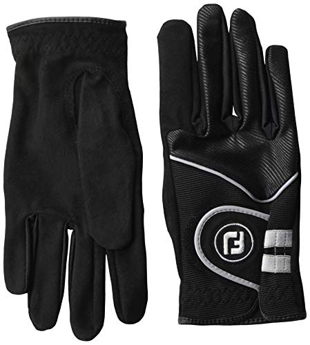 FootJoy Women's RainGrip Golf Gloves, Pair, Black Small, Pair