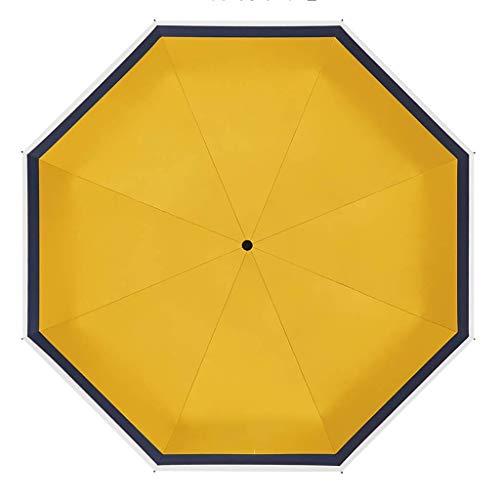 QIXIAOCYB Ombrelloni Pieghevoli Ombrellone Ultra-Leggero, Parasole Compatto e Portatile, a Mezzaluna, ombrellone Pieghevole Tasca Anti-ultravioletto 2Size Riutilizzabile Giallo (Color : Yellow)