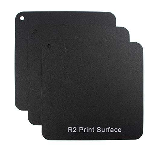 FYSETC 3D Printer Robo R2 Build Plate 228mmx228 mm/ 8.9X8.9 inch Heated Bed Sheet Build Surface with Adhesive Backing Platform for Robo R2 Printer Parts 3Pcs
