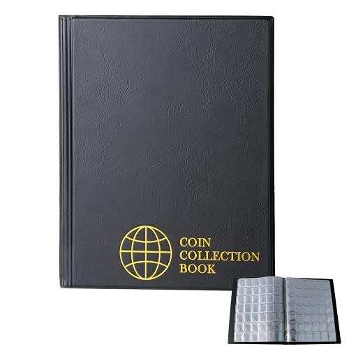 Uncle Paul Album per Monete da 420 Tasche - Griglia 1,2x1,1 Pollici Libro Monete Nero 10 Pagine Porta Monete Raccolta Formato Lettera Libro Porta Monete 3.0x2,8 cm Tasca CS0242BK