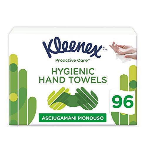 Kleenex - Asciugamani usa e getta, per la cura proattiva, 96 pezzi