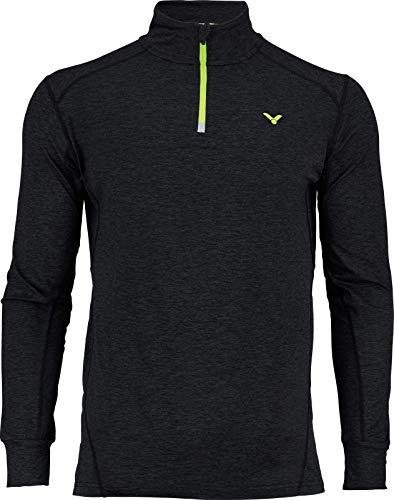 VICTOR T-Shirt de Badminton à Manches Longues Noir mélangé Taille S