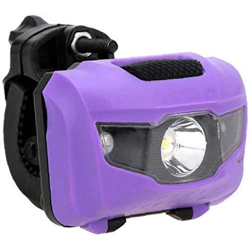 SONG Luz de Bicicleta, Bicicleta MTB Luz Delantera Trasera Luces de Advertencia Bicicleta Ciclismo Luz Trasera de Doble Uso Accesorios para Bicicleta,Púrpura