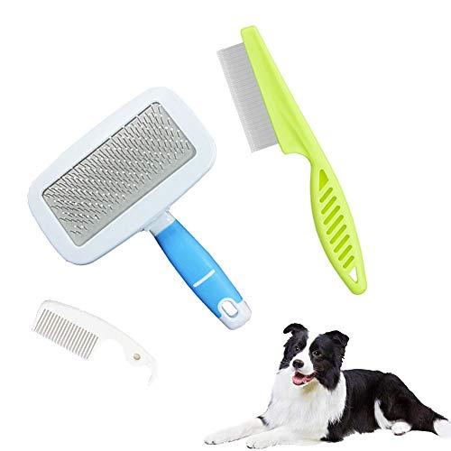 MEISHANG Haustier Hundebürste Katzenbürste, Haustier Bürsten, Haar Entferner Haustierbürste für Langhaar und Kurzhaar