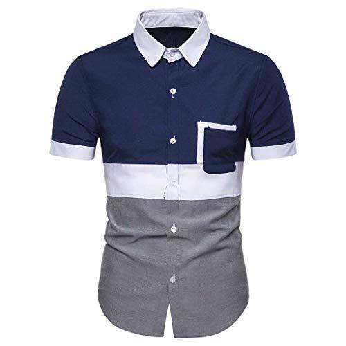 Yowablo Herren Tops Muskelshirts Unterhemd Tank Top Tankshirt Achselshirts Trägershirt Stringer T-Shirt Sport Stringer (3XL,Marine)