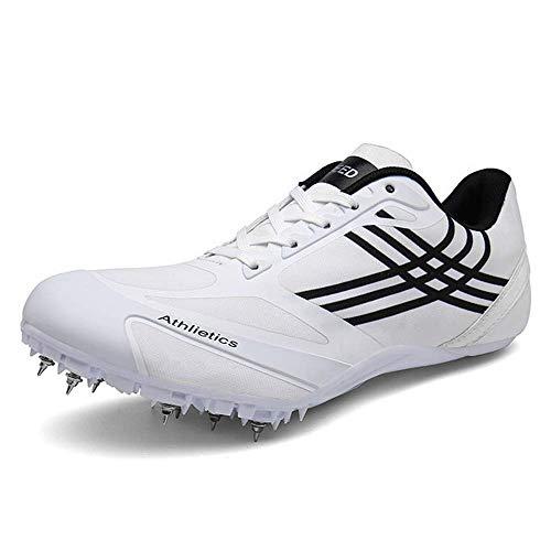 GLEYDY Zapatillas De Atletismo para Hombres, Zapatillas Clavos para Correr Livianos 8 Clavos para Sprint Unisex Zapatos De Salto Largo Competencia Transpirable Dedicado,002,40EU