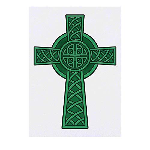 Azeeda Grand 'Croix Celtique' Tatouages temporaires (TO00041214)