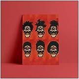 Yxjj1 The Weeknd Poster Gemälde Wandkunst gerahmte Holz