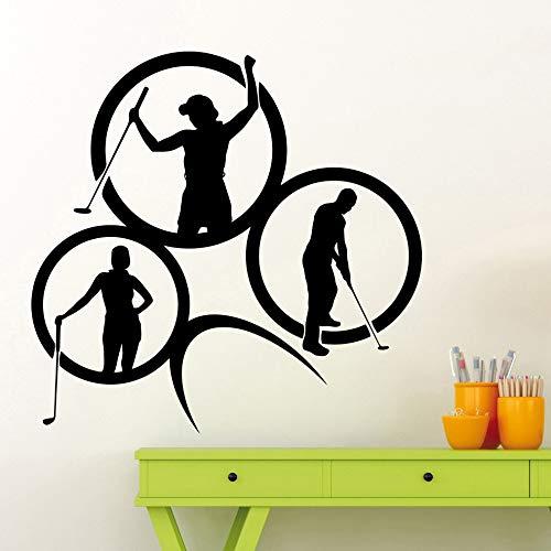 Pole Ball Logo Etiqueta de la pared Polo Golfista Vinilo Tatuajes de pared Health Club Decoración del hogar Accesorios Impermeable Mural