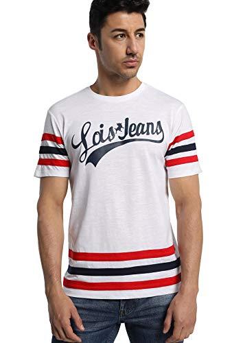 LOIS JEANS - Camiseta con Rayas para Hombre   De Algodón  ...