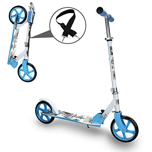 Kinderroller klappbar Höhenverstellbar Big wheels Mädchen und Junge Freizeit City Roller klappbar