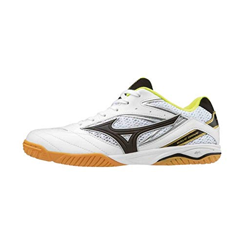 Mizuno Schuh Wave Drive 8 und 1 Paar Socken gratis Optionen 6,0, weiß/gelb