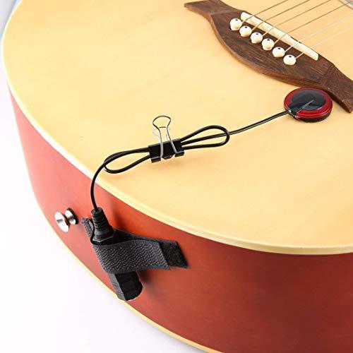 Piezo-contactmicrofoon voor gitaar, viool, banjo, oud, ukelele, mandoline, cello en meer, helder en nauwkeurig geluid