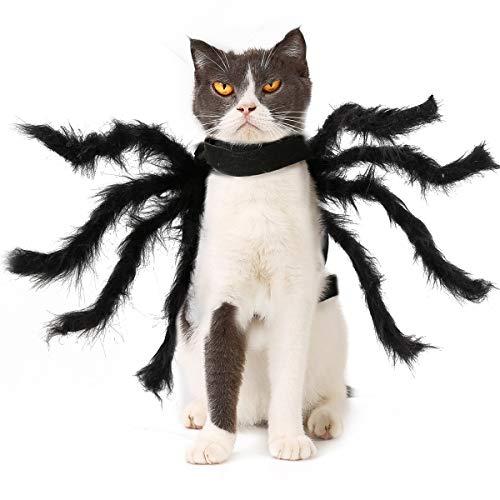 PEDOMUS Disfraz de Perro Disfraz de Halloween Perro Gato Disfraces de araña pequeña y Alta
