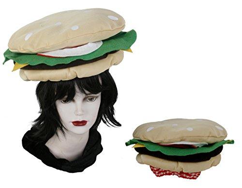 Karnevalshut Burger Hamburger Döner Cap Fasching Hut Party Spaß Fastnacht m92991