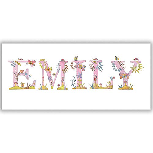 tigerlilyprints Personalised Bedroom Door Plaque,Children's Name Plate, Baby Gift,1st Birthday,Baby Room Sign, Boys, Girls Room Sign,Name on a Sign, Personalised Children's Bedroom Door Signs.