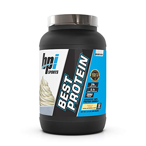 BPI Sports Best Protein – 100% Whey Protein Blend – Muscle Growth, Recovery, Meal Replacement – No Maltodextrin, No Fillers – Gluten Free – For Men & Women – Vanilla Swirl – 2 Pounds