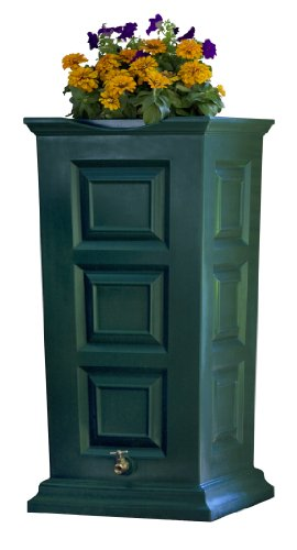 Good Ideas SV-RS-GRN Savannah Rain Barrel 55-Gallon, Green