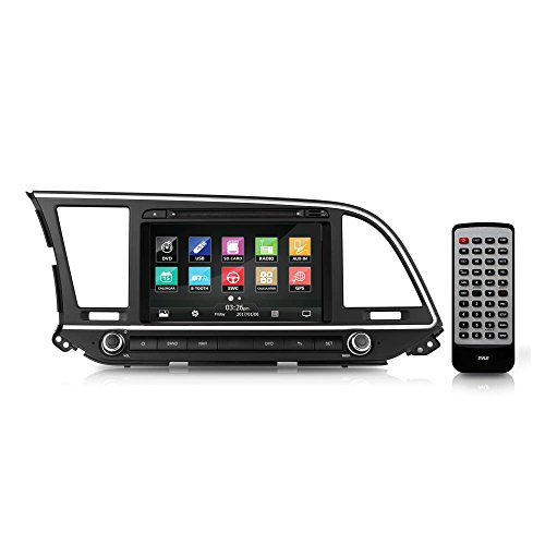 2016 Hyundai Elantra Double Din - Replacement Touchscreen Car Head Unit Stereo Radio Receiver with USB, GPS Navigation System, Compatible to bluetooth, DVD Player, Wireless and Handsfree - PHYELANT16