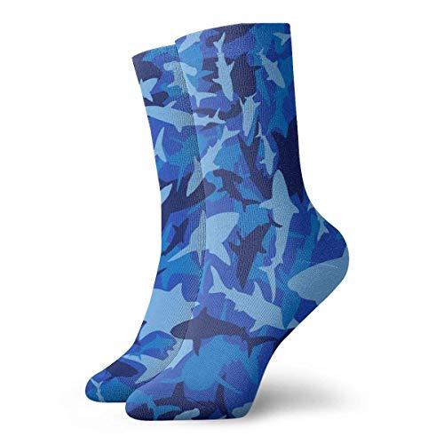 AEMAPE Shark Camo Teen Calcetines estampados coloridos para hombres y mujeres unisex