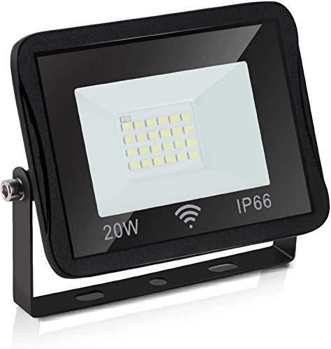 MFLASMF 10x Proyector LED para Exteriores 20w, luz de Seguridad LED súper Brillante, luz Blanca cálida Impermeable IP66 para jardín, Patio, garajes, almacén, Patio, Valla publicitaria