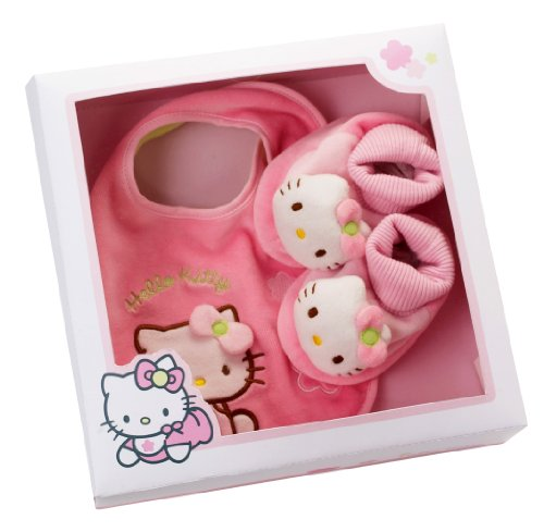 Coffret cadeau Hello Kitty Chaussons + Bavoir