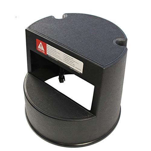Stool Kick Hocker -Premium Rolling Tritthocker mit Rutschfester Gummiauflage, fahrbare Federrollen, für Kinder, Kinder, Erwachsene (Color : Black, Size : 40.7 * 34cm)